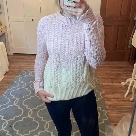 NWOT Anthropologie chunky Ombre sweater